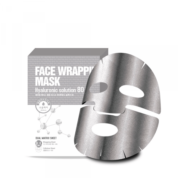 Маска для лица с  гиалуроновой кислотой Berrisom Face Wrapping Mask Hyaruronic Solution 80 27мл