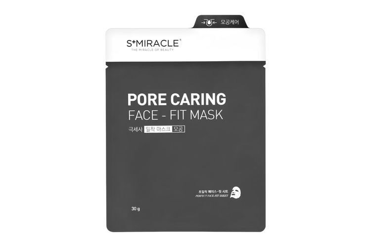МАСКА ДЛЯ ЛИЦА ОЧИЩАЮЩАЯ (S+MIRACLE PORE CARING FACE-FIT MASK) | LS COSMETIC