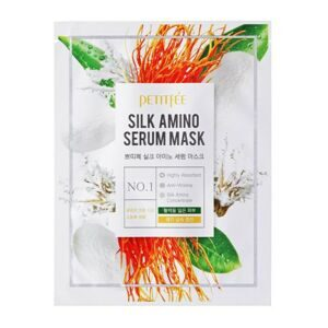 Тканевая маска для лица с протеинами шелка Petitfee Silk Amino Serum Mask 30мл