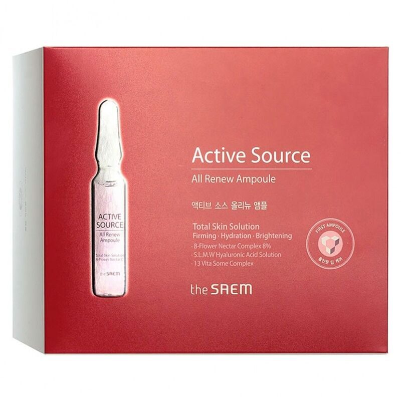 THE SAEM Эссенция для лица восстанавливающая ампульная Active Source All Renew Ampoule 2мл