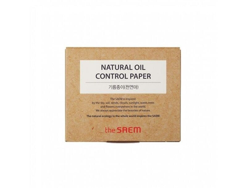 THE SAEM Салфетки матирующие Natural Oil Control Paper 50шт