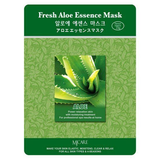 МЖ Essence Маска для лица тканевая с экстрактом алоэ Fresh MIJIN Aloe Essence Mask 23г