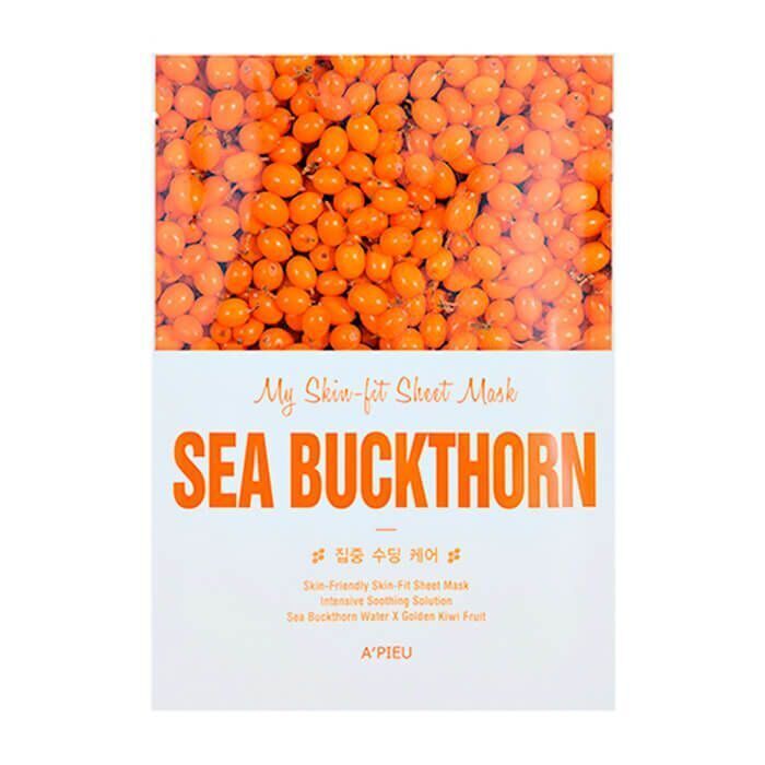 Маска для лица тканевая A'PIEU My Skin-Fit Sheet Mask Sea Buckthorn 25гр.