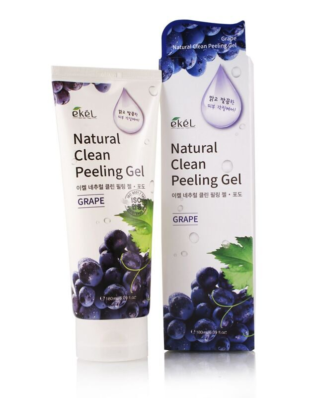 "Пилинг-гель (скатка) для лица ""Виноград"" Ekel Natural Clean Peeling Gel Grape,100 мл,"