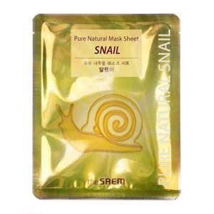 Маска для лица тканевая с муцином улитки THE SAEM Pure Natural  Mask Sheet Snail 20мл